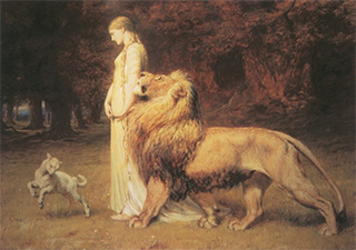 Una and the Lion from the Faerie Queene