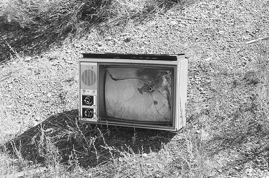 Old, abandoned television