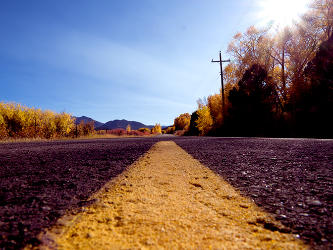 The open road in autumn